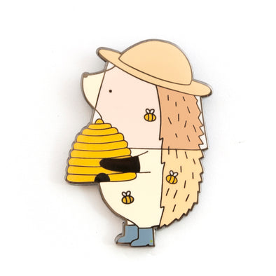 Limited Edition Hedgehog Beekeeper Pin // Summer 2019
