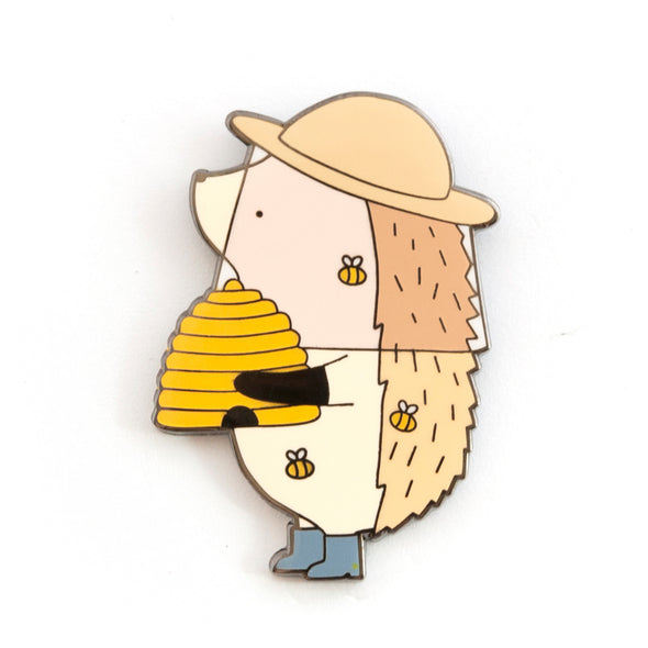 Hedgehog Beekeeper Pin // Summer 2019