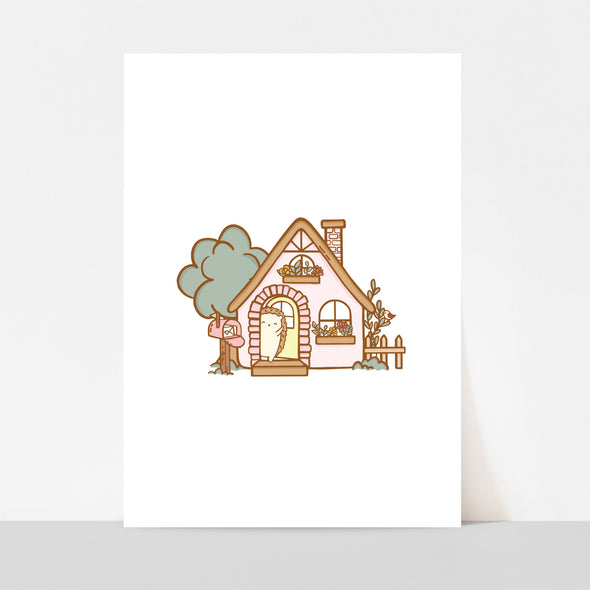 Brambleberry Hedge Hollow Cottage Art Print
