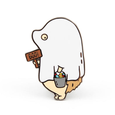 Limited Edition Hedgehog Ghost Pin // Fall 2018