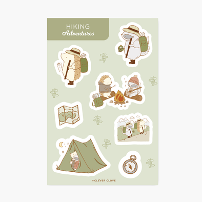 Hiking Sticker Sheet