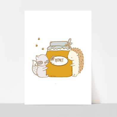 Honey & Hugs Art Print