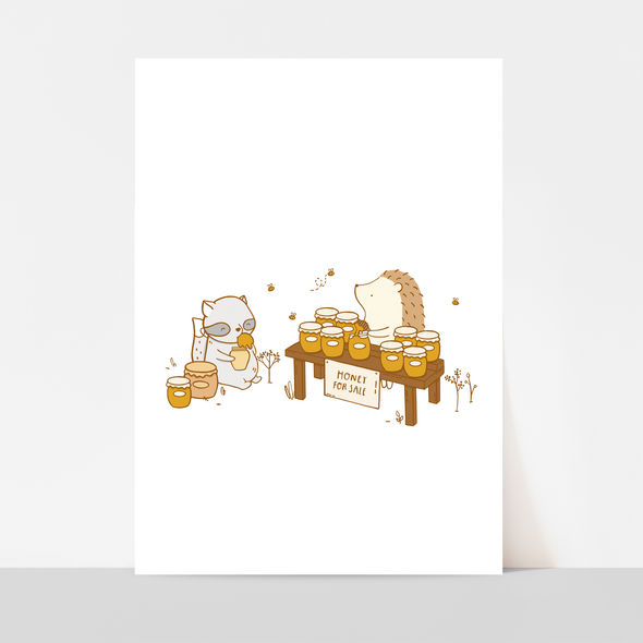 Honey Stand Art Print