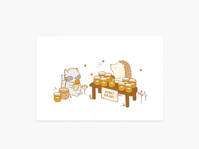 Honey Stand Postcard