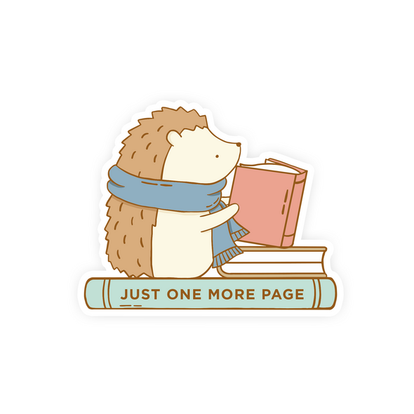 Just One More Page Vinyl Sticker