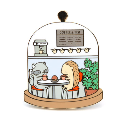 Little Worlds Cafe Pin