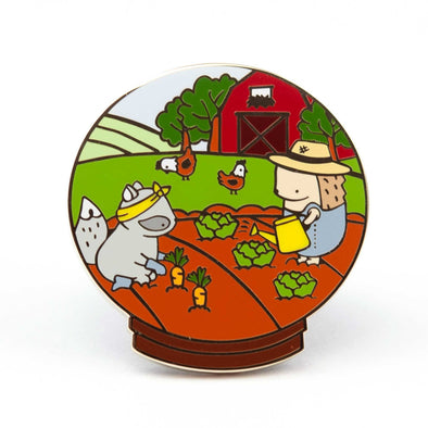 Little Worlds Farmer Pin