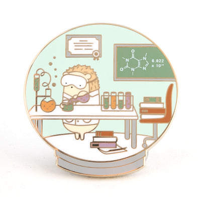 Little Worlds Scientist Enamel Pin