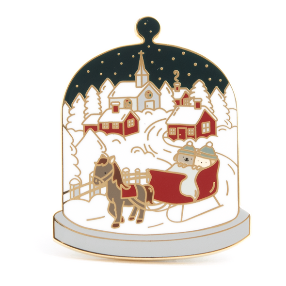 Little Worlds Sleigh Ride Enamel Pin