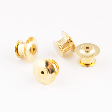 Gold Locking Pin Backs - Four Pack