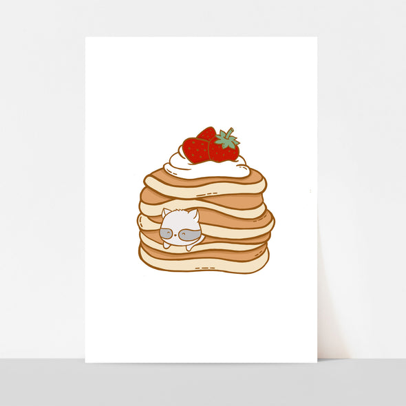 Strawberry Pancakes Art Print