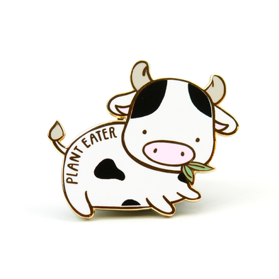 Plant Eater Cow Pin
