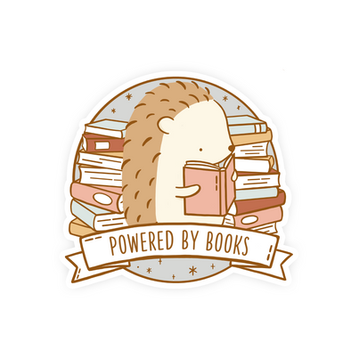 Powered by Books Vinyl Sticker