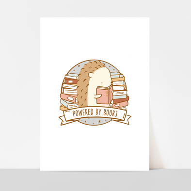 Powered by Books Art Print