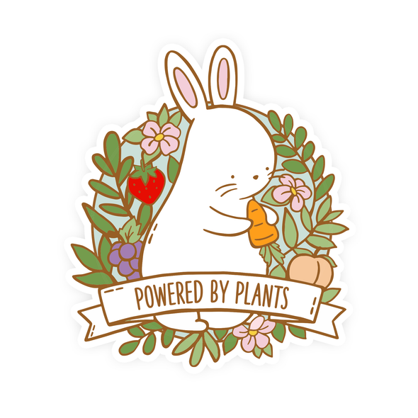 Powered by Plants Vinyl Sticker