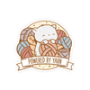 Powered By Yarn Vinyl Sticker