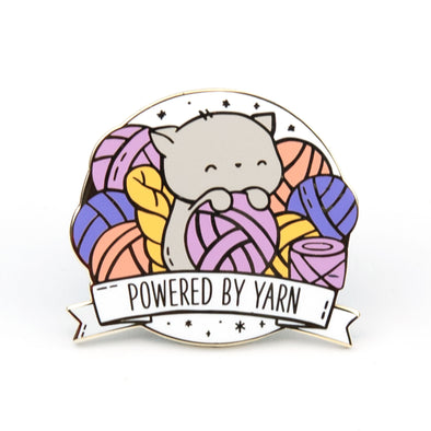Powered by Yarn Pin