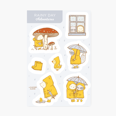 Rainy Day Sticker Sheet