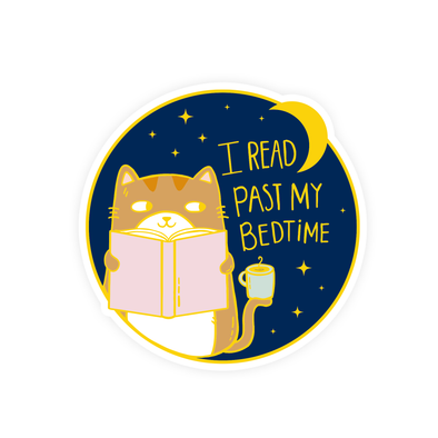 I Read Past My Bedtime Vinyl Sticker