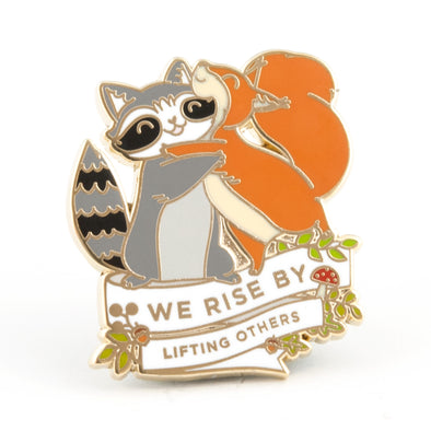 Raccoon and Squirrel Pin