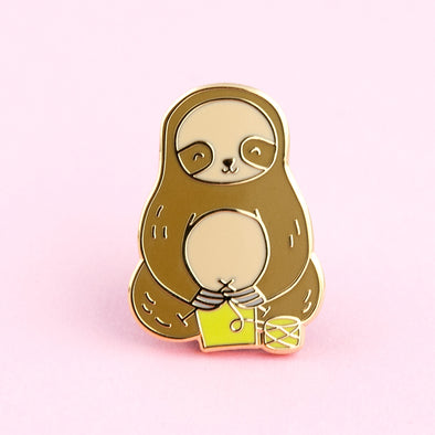 Sloth Knitting Pin