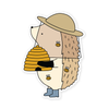 Henrietta the Hedgehog Beekeeper Vinyl Sticker