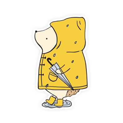 Henrietta Raincoat Vinyl Sticker