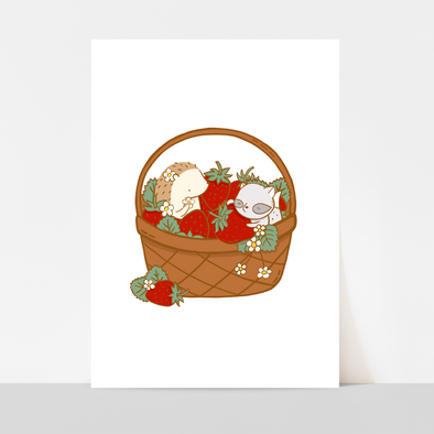 Strawberry Basket Art Print