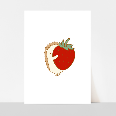 Strawberry Hug Art Print