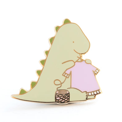 Dinosaur Knitting Pin