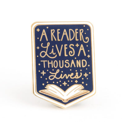 A Reader Lives a Thousand Lives Pin