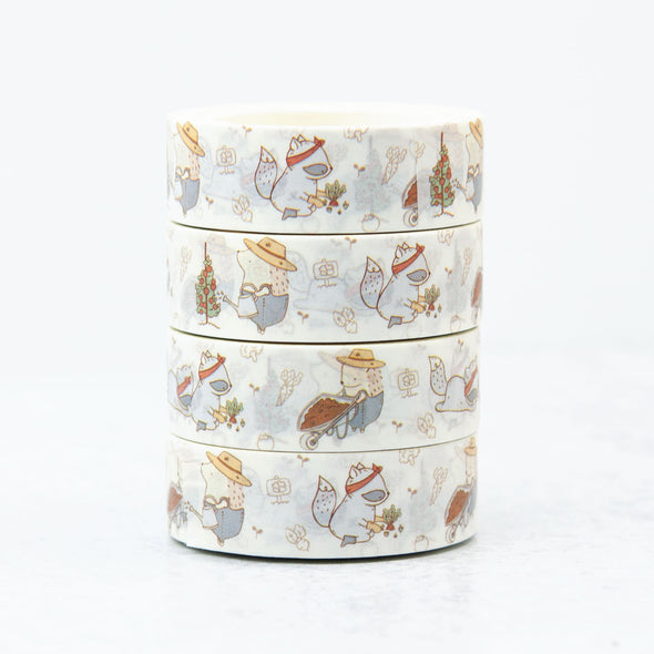 Hedgehog Gardening Washi Tape