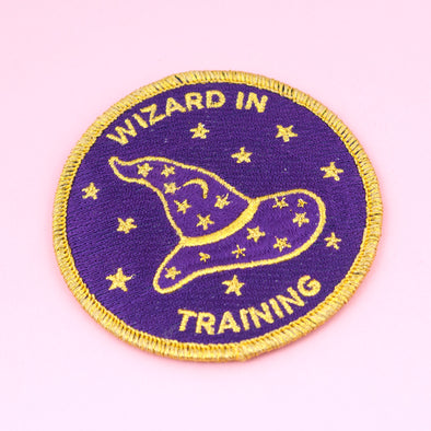 Wizard embroidered patch