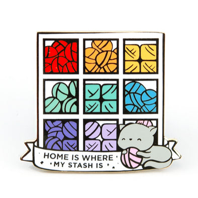 Home is Where My Stash Is Pin