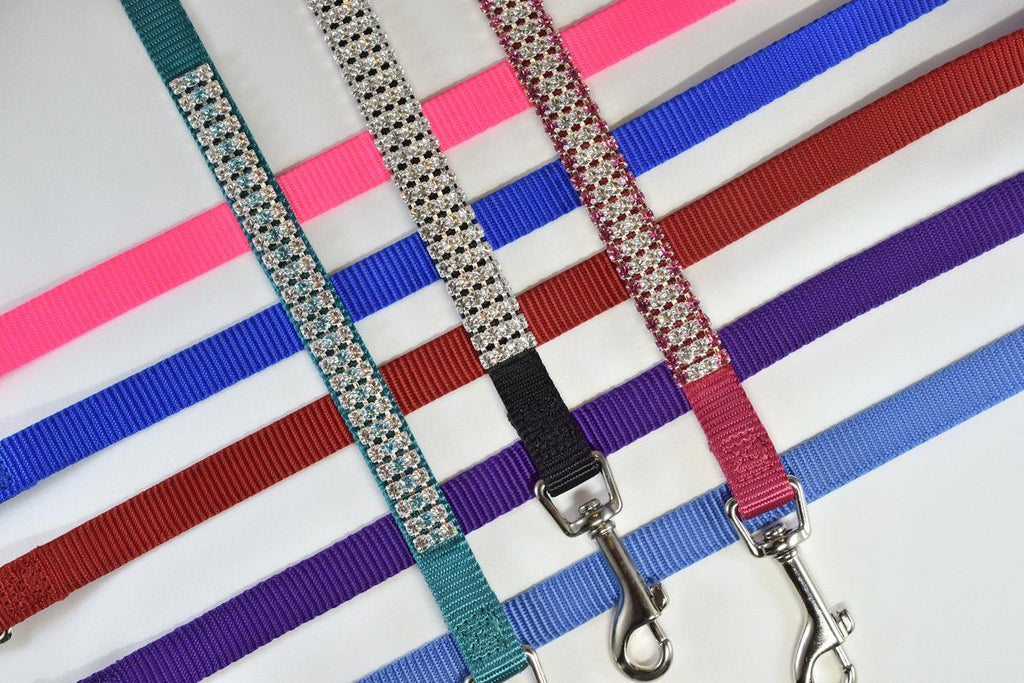 "Rhinestone 4' Matching Leash - 5/8"" Wide"