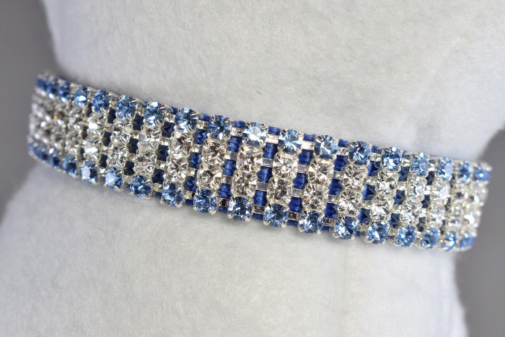 "Berry Blue II Rhinestone Collar - 5/8"" Wide"