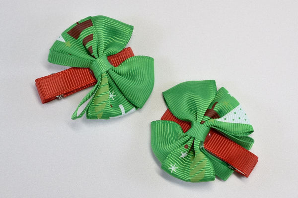 NEW! Christmas Tree Bow Hair Clip