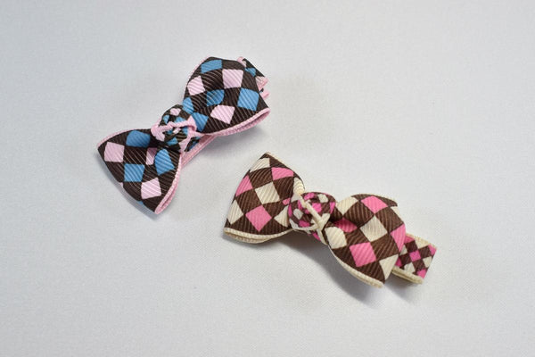 Diamond Bow Ribbon Hair Clips