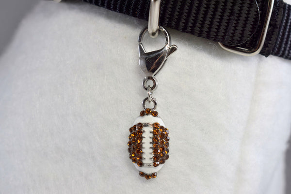 NEW! Football Rhinestone Collar Charm