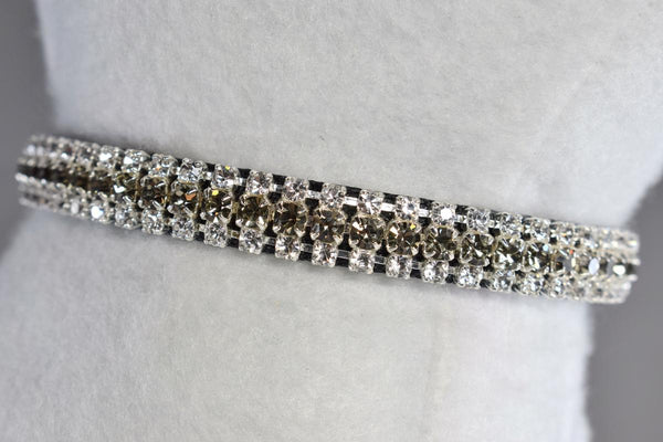 "Formal Affair Petite Rhinestone Cat Safety Collar - 3/8"" Wide"
