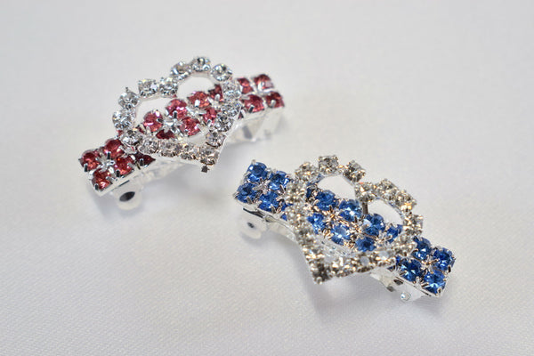 Rhinestone Heart Hair Barrettes