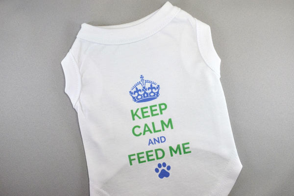 Keep Calm and Feed Me Pet Shirt