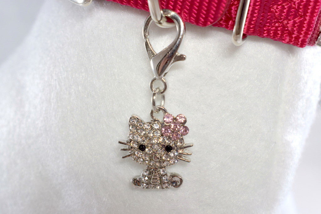 Rhinestone Kitty Collar Charm