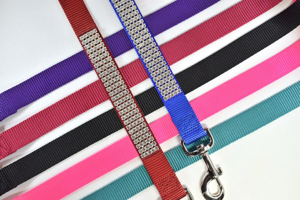 "Rhinestone 4' Matching Leash - 1"" Wide"