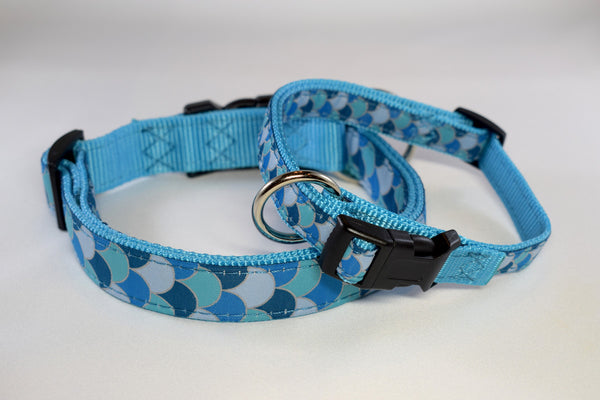 NEW! Mermaid Ocean Scales Adjustable Ribbon Collar