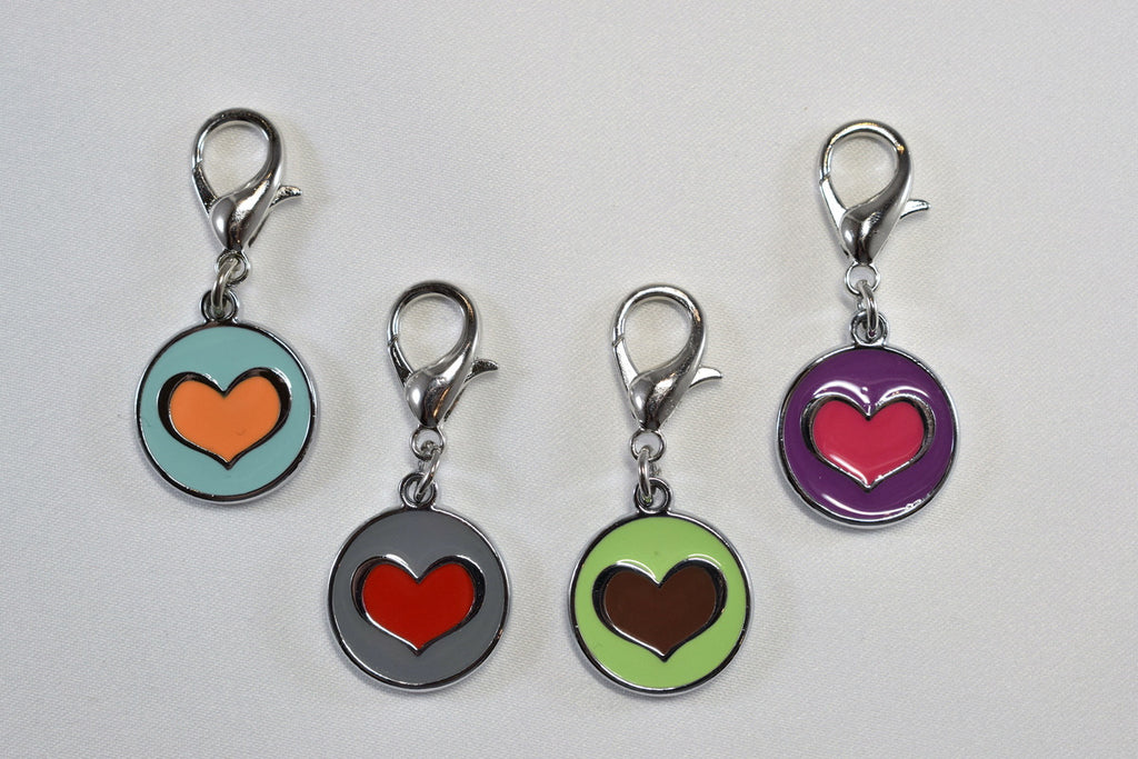 Two Tone Heart Collar Charm
