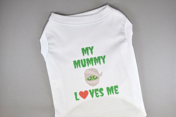 NEW! My Mummy Loves Me Halloween Pet Shirt