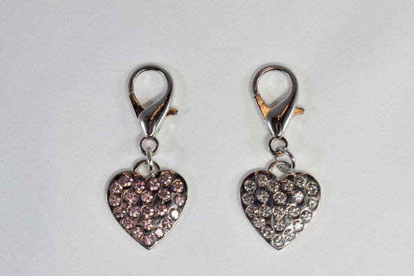 NEW! Rhinestone Heart Collar Charm