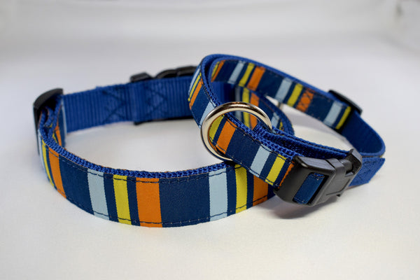 NEW! Nautical Stripes Adjustable Ribbon Collar