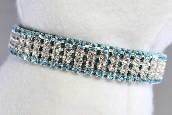 "Bahama Blue II Rhinestone Collar - 5/8"" Wide"